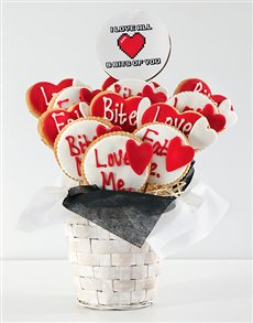 bakery: Personalised Love Cookie Bouquet!