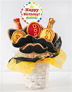 bakery: Personalised Birthday Balloon Cookie Bouquet!