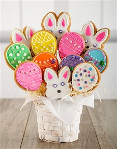 bakery: Easter Egg Hunt Cookie Bouquet!