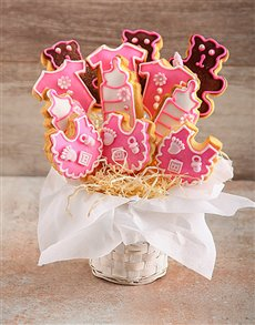 bakery: New Baby Girl Cookie Bouquet!