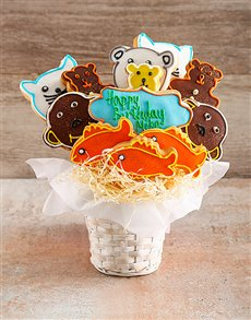 bakery: Zoo Party Birthday Cookie Bouquet!
