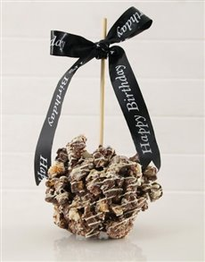 bakery: Chocolate Honeycomb Candy Apple!