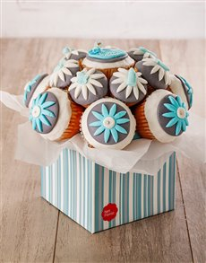 bakery: Welcome Baby Boy Cupcake Bouquet !