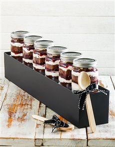 bakery: Black Forest Cupcake Jar Combo!