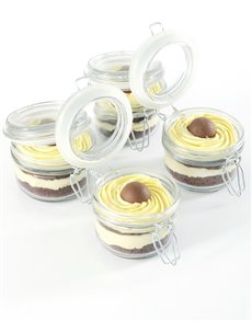 bakery: White Lindt Chocolate Mousse Cupcakes in a Jar!