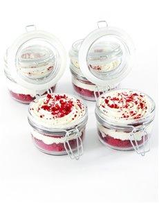 bakery: Red Velvet Cupcakes in a Jar!