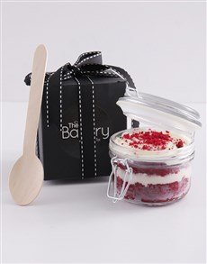 bakery: Single Red Velvet Cupcake Jar!