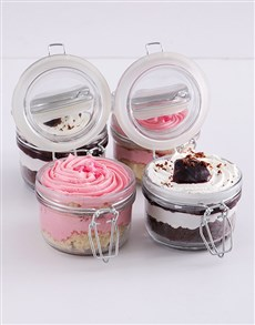 bakery: Turkish Delight and Black Forest Cupcake Jar Combo!