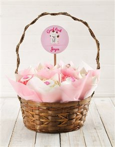 bakery: Personalised Good Luck Baby Cupcake Bouquet!