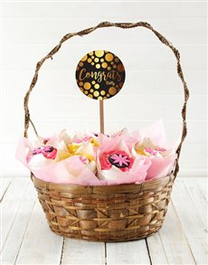 bakery: Personalised Floral Congrats Cupcake Bouquet!