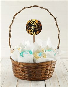 bakery: Personalised Baby Boy Congrats Cupcake Bouquet!