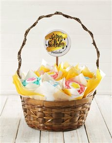 bakery: Personalised Golden Birthday Cupcake Bouquet!