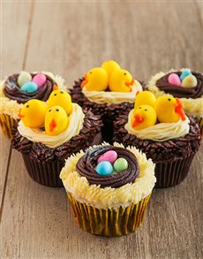 bakery: Chicks and Eggs in a Nest Easter Cupcake Combo!