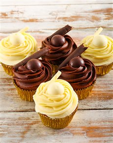 gifts: White and Dark Lindt Chocolate Cupcakes!