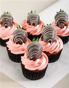 gifts: Strawberry Cream Chocolate Cupcakes!
