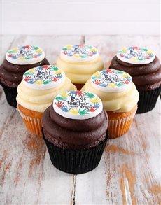 bakery: Best Teacher Chocolate and Vanilla Cupcakes!