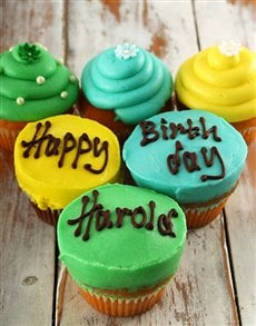 gifts: Personalised Birthday Boy Cupcakes!