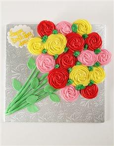 bakery: Flower Bouquet Pull Apart Cupcake Cake!
