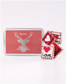 bakery: Personalised Anniversary Deer Love Cookie Tin!