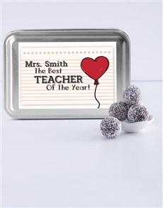 gifts: Personalised Cool Teacher Fudge Truffle Tin!