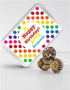 bakery: Birthday Cake Pops in a Personalised Tin!
