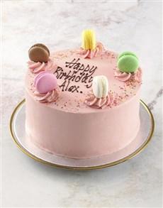 bakery: Pink Macaroon Cake!