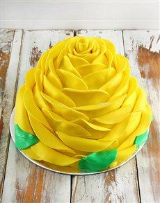 bakery: Yellow Lemon Rose Cake!