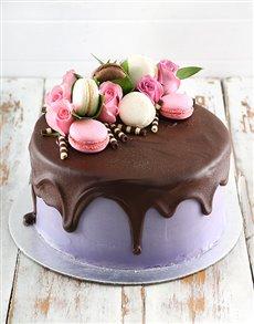 bakery: Lilac Macaroon Cake!