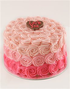 bakery: Rose Ombre Shortbread Cake!