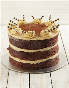 bakery: Coffee and Chocolate Naked Cake 20cm!
