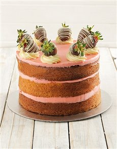 bakery: Strawberry and Vanilla Naked Cake!