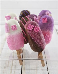 gifts: Baby Girl Cakes on a Stick!