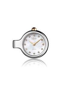 jewellery: Idun Denmark Mother of Pearl Pendant Charm Watch!