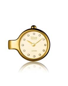 jewellery: Idun Denmark Gold Plated Pendant Charm Watch!