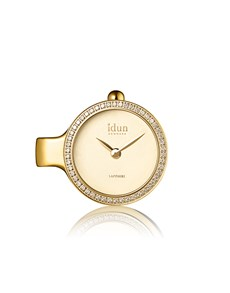 gifts: Idun Denmark Pendant Gold Plated Charm Watch !