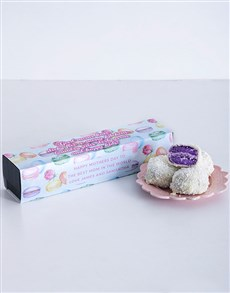 bakery: Personalised Good Moms Dipped Blueberry Macaroons !