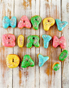 bakery: Happy Birthday Mini Doughnuts!