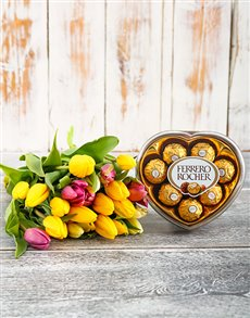 flowers: Tulip Bouquet with Free Chocs!