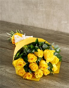 flowers: Yellow Roses and Tea!