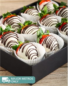 gifts: White Stripy Strawberries!