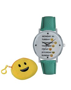 gifts: Emoji Cyber Smiley Weekday Aqua Watch!