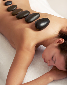 flowers: Hot Stone Therapy!
