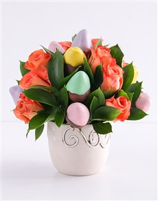 bakery: Pastel Goodness Strawberry and Rose Bouquet!