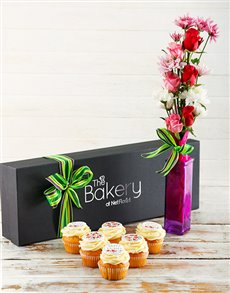 gifts: Floral Birthday Cupcakes!