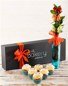 bakery: Thank You Cupcakes and Flowers!