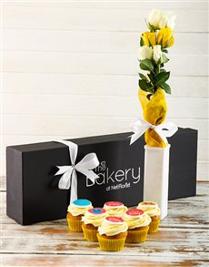 bakery: New Baby Cupcakes and Flowers!