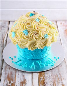 gifts: New Arrival Baby Boy Giant Cupcake!