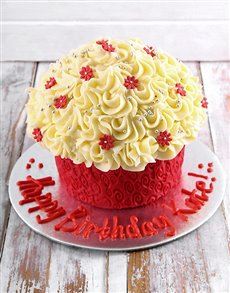 bakery: Happy Birthday Giant Cupcake!