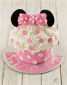 bakery: Personalised Minnie Mouse Giant Cupcake!