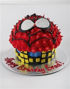 bakery: Personalised Spiderman Giant Cupcake!